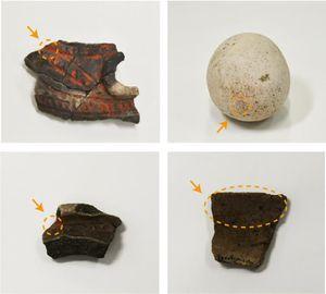 Tausende Jahre alte Artefakte mit Zinnoberspuren.