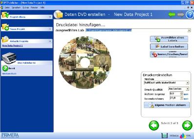 PT Publisher Screenshot mit Vorschau der ausgewählten Daten
