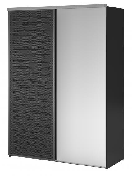 elg kleiderschrank mit fenstad spiegelglas schiebet r. Black Bedroom Furniture Sets. Home Design Ideas